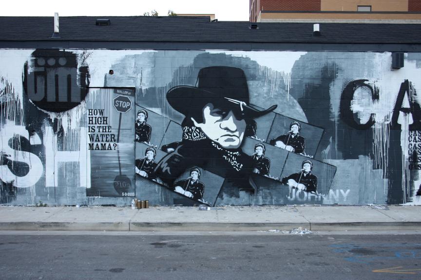 Johnny Cash Mural Nashville