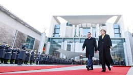 Η καγκελάριος Μέρκελ με τον Αλέξη Τσίπρα. Φωτογραφία ΑΡΧΕΙΟΥ ΑΠΕ-ΜΠΕ