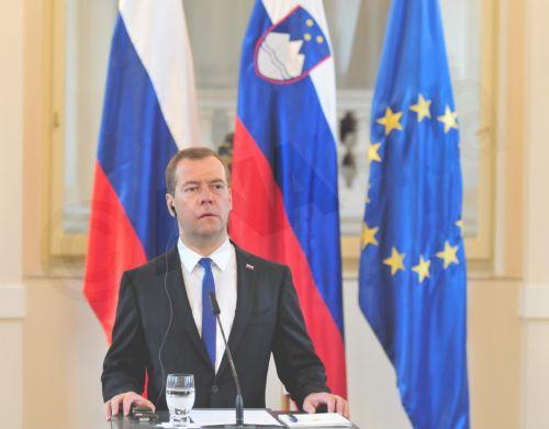 Russian Prime Minister Dmitry Medvedev. EPA/IGOR KUPLJENIK