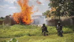 FILE PHOTO. Soldiers fighting agianst Islamic militant group Boko Haram. EPA/STR