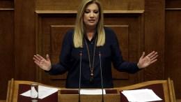 Η πρόεδρος του ΠΑΣΟΚ Φώφη Γεννηματά στη Βουλή. ΑΠΕ-ΜΠΕ/ΑΛΕΞΑΝΔΡΟΣ ΒΛΑΧΟΣ