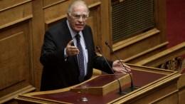 Ο πρόεδρος της ΕΚ Βασίλης Λεβέντης  στη Βουλή. ΦΩΤΟΓΡΑΦΓΙΑ ΑΡΧΕΙΟΥ. ΑΠΕ-ΜΠΕ, ΑΛΕΞΑΝΔΡΟΣ ΒΛΑΧΟΣ