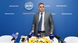 Ο Πρόεδρος του ΔΗΚΟ Νικόλας Παπαδόπουλος. ΦΩΤΟΓΡΑΦΙΑ ΑΡΧΕΙΟΥ. ΚΥΠΕ, ΚΑΤΙΑ ΧΡΙΣΤΟΔΟΥΛΟΥ