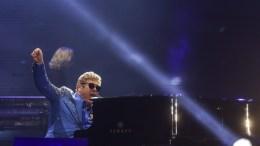 British singer Elton John performs at the third journey of Rock in Rio Festival, in Rio de Janeiro, Brazil. EPA, Antonio Lacerda