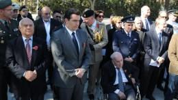 Στην εκδήλωση για την Ημέρα Ανάμνησης των Θυμάτων των Παγκοσμίων Πολέμων παραβρέθηκε ο Υπουργός Αμυνας Χριστόφορος Φωκαϊδης. Φωτογραφία ΚΥΠΕ