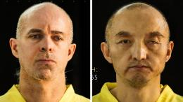 Undated photos taken from Islamic State's online magazine purport to show hostages Ole Johan Grimsgaard-Ofstad and Fan Jinghui. PHOTO via EPA