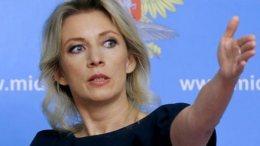 Η εκπρόσωπος τύπου του ρωσικού Υπουργείου Εξωτερικών, Μαρία Ζαχάροβα. Φωτογραφία EPA
