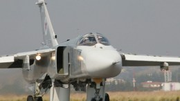 A handout picture made available on the official website of the Russian Defence Ministry shows a Russian SU-24 M bomber at the Syrian Hmeymim airbase, outside Latakia, Syria. EPA/RUSSIAN DEFENCE MINISTRY / HANDOUT EDITORIAL USE ONLY/NO SALES