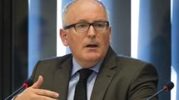 O αντιπρόεδρος της Κομισιόν Φρανς Τίμερμανς. EPA/Lex van Lieshout