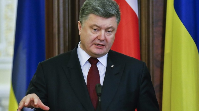 President of Ukraine, Petro Poroshenko.  EPA, SERGEY DOLZHENKO