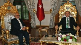 FILE PICTURE. A handout picture provided by the Turkish President Press Office on 19 March 2016 shows Turkish President Recep Tayyip Erdogan (R) receiving Iranian Foreign Minister Mohammad Javad Zarif (L) for a meeting in Istanbul, Turkey.. EPA, TURKISH PRESIDENT PRESS OFFICE, HANDOUT EDITORIAL USE ONLY