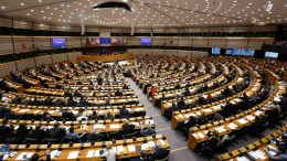 A general view for the plenary session at the European Parliament in Brussels, Belgium.  EPA, LAURENT DUBRULE