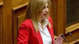 Η  Φώφη Γεννηματά στη Βουλή. Φωτογραφία Αρχείου.  ΑΠΕ-ΜΠΕ/Παντελής Σαίτας