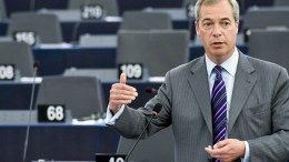 A handout picture provided by the European Parliament shows British UKIP leader Nigel Farage. EPA, CHRISTIAN CREUTZ, EUROPEAN PARLIAMENT HANDOUT
