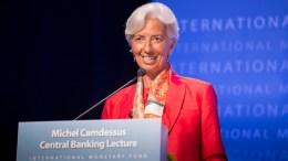 International Monetary Fund Managing Director Christine Lagarde at the IMF Headquarters In Washington, DC. IMF Staff Photo, Stephen Jaffe