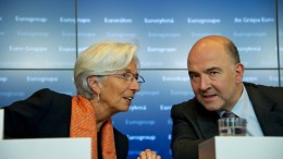 Ms Christine LAGARDE, Managing Director of the IMF; Mr Pierre MOSCOVICI, Member of the European Commission. Photo European Council