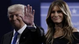 Republican Donald Trump and his wife Melania (R). EPA, PETER FOLEY