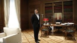 Ο πρωθυπουργός Αλέξης Τσίπρας στο Μέγαρο Μαξίμου. ΑΠΕ-ΜΠΕ, ΓΙΑΝΝΗΣ ΚΟΛΕΣΙΔΗΣ