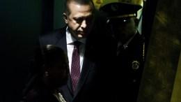 President of Turkey, Recep Tayyip Erdogan, at UN headquarters in New York, New York, USA. EPA, JUSTIN LANE