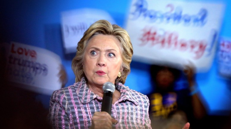Democratic presidential candidate and former Secretary of State Hillary Clinton speaks during her Presidential campaign at Coral Spring Gymnasium in Coral Springs, Florida, USA, 30 September 2016. EPA, CRISTOBAL HERRERA