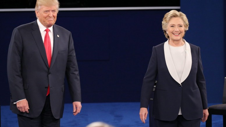 FILE PHOTO. Republican Donald Trump (L) and Democrat Hillary Clinton (R). EPA, JIM LO SCALZO