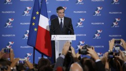 French former Prime Minister Francois Fillon as he delivers a victory speech after winning the second round of the French centre-right wing primaries in Paris, France, 27 November 2016. Fillon has been chosen to represent the Republican (LR) party at the 2017 presidential elections on 23 April and 07 May 2017. EPA, YOAN VALAT