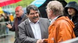 Salih Muslim (L), co-chairman of the Democratic Union Party (PYD). EPA, ENNIO LEANZA