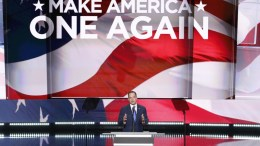 Republican National Committee Chairman Reince Priebus delivers remarks in the Quicken Loans Arena on the final day of the 2016 Republican National Convention in Cleveland, Ohio, USA, 21 July 2016. The four-day convention is expected to end with Donald Trump formally accepting the nomination of the Republican Party as their presidential candidate in the 2016 election. EPA, SHAWN THEW