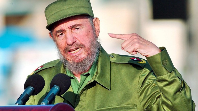 A file picture shows Cuban President Fidel Castro gesturing during a speech. EPA/ALEJANDRO ERNESTO