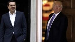 Τηλεφωνική επικοινωνία είχε σήμερα ο πρωθυπουργός, Αλέξης Τσίπρας με τον νεοεκλεγμένο Πρόεδρο των ΗΠΑ, Ντόναλντ Τραμπ.  ΑΠΕ-ΜΠΕ/ΑΛΕΞΑΝΔΡΟΣ ΒΛΑΧΟΣ