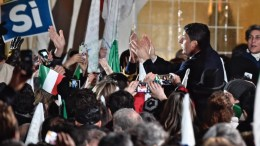 File PHOTO: Italian Prime Minister Matteo Renzi greets supporters after his speech during the campaign for to vote 'Yes' in the 04 December Costitutional Referendum, in Florence, Italy, 02 December 2016. EPA, MAURIZIO DEGL'INNOCENTI