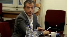 Ο επικεφαλής του Ποταμιού Σταύρος Θεοδωράκης. ΑΠΕ-ΜΠΕ, ΣΥΜΕΛΑ ΠΑΝΤΖΑΡΤΖΗ