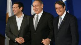 File Photo: Ο πρόεδρος της Κύπρου και οι πρωθυπουργοί της Ελλάδος και του Ισραήλ. ΓΤΠ, Σταύρος Ιωαννίδης