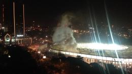 Two large explosion reported near Besiktas football stadium in Istanbul. Photo via Twitter, @TurkeyUntold