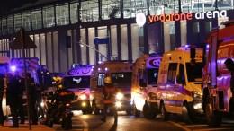File PHOTO: Ambulances stand at teh scene after an explosion around Vodafone Arena Stadium in Istanbul, Turkey, 10 December 2016. EPA, SEDAT SUNA