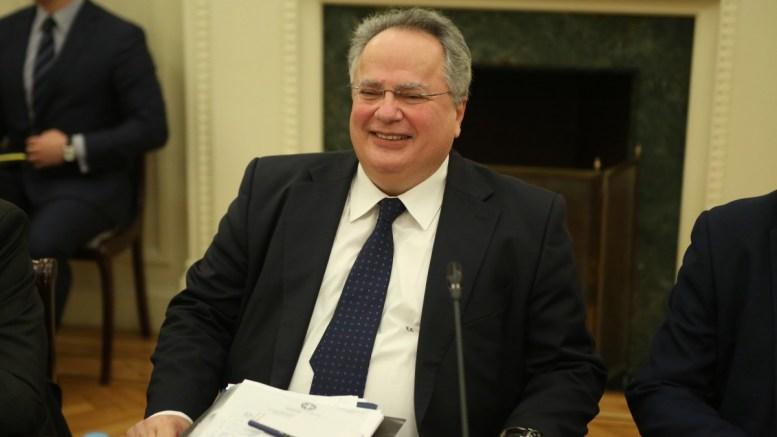 Ο ΥΠΕΞ Νίκος Κοτζιάς στη συνεδρίαση του Εθνικού Συμβουλίου Εξωτερικής Πολιτικής. ΑΠΕ - ΜΠΕ, Αλέξανδρος Μπελτές