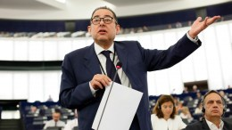 Gianni Pittella, chairman of the Progressive Alliance of Socialists and Democrats in the European Parliament, delivers his speech at the European Parliament. FILE PHOTO. EPA/MATHIEU CUGNOT