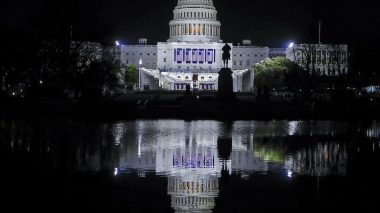 FILE PHOTO: The US Capitol is illuminated the night before President-elect Donald Trump's inauguration in Washington, DC, USA, 19 January 2017. EPA, TANNEN MAURY