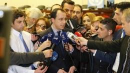Ο Κυβερνητικός Εκπρόσωπος κ. Νίκος Χριστοδουλίδης προβαίνει σε δηλώσεις στα ΜΜΕ στη Γενεύη της Ελβετίας όπου διεξάγονται οι διαπραγματεύσεις για το Κυπριακό, Τετάρτη 11 Ιανουαρίου 2017. ΚΥΠΕ, ΚΑΤΙΑ ΧΡΙΣΤΟΔΟΥΛΟΥ