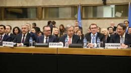 File Photo: Στιγμιότυπο από την έναρξη της Διάσκεψης για το Κυπριακό στη Γενεύη της Ελβετίας, στην παρουσία του νέου Γενικού Γραμματέα του ΟΗΕ Αντόνιο Γκουτέρες, Πέμπτη 12 Ιανουαρίου 2017. ΚΥΠΕ, ΚΑΤΙΑ ΧΡΙΣΤΟΔΟΥΛΟΥ