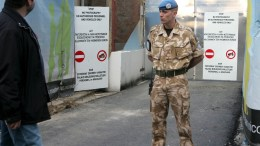 FILE PHOTO. United Nations soldiers man a checkpoint. EPA, KATIA CHRISTODOULOU