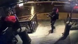 A video capture shows the gunman entering the Reina nightclub, a popular night club in Istanbul near by the Bosphorus, in Istanbul, Turkey, early 01 January 2017. At least 39 people were killed and 65 others were wounded in the attack, local media reported. EPA, DHA VIA DEPO POHOTOS TURKEY OUT
