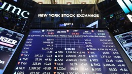 FILE PHOTO. A view of a display board at the New York Stock Exchange (NYSE) at the Opening Bell in New York, New York, USA, EPA, ANDREW GOMBERT
