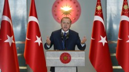 A handout photo made available by Turkish President Press office shows Turkish President Recep Tayyip Erdogan. EPA/TURKISH PRESIDENT PRESS OFFICE HANDOUT HANDOUT EDITORIAL USE ONLY/NO SALES