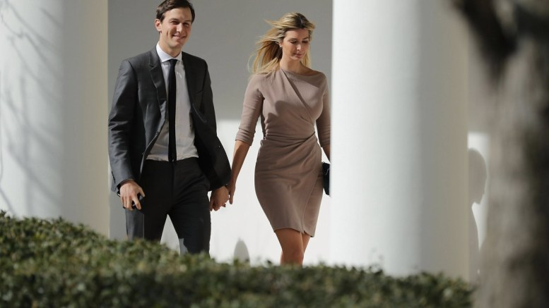 File Photo: White House Senior Advisor to the President for Strategic Planning Jared Kushner (L) and his wife and President Donald Trump's daughter Ivanka Trump. EPA, Chip Somodevilla / POOL AFP OUT