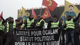 'Long walk for Kurdistan and Ocalan' begins in Luxembourg. Photo via Twitter, @KurdishQuestion