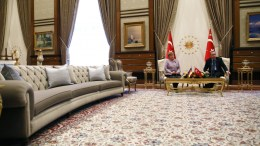 File Photo: German Chancellor Angela Merkel (L) and Turkish President Recep Tayyip Erdogan (R) in Ankara, Turkey. EPA, TUMAY BERKIN