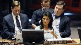 The US Ambassador to the United Nations Nikki Haley at United Nations headquarters in New York, New York, USA. FILE PHOTO. EPA, JASON SZENES