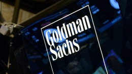 A file photo dated 15 July 2014 showing a sign of US bank Goldman Sachs on the floor of the New York Stock Exchange at the start of the trading day in New York, New York, USA. EPA, JUSTIN LANE