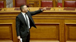 File Photo: Όπως πάντα ο βουλευτής της ναζιστικής οργάνωσης Χρυσή Αυγή, Ηλ. Κασιδιάρης κάνει φασαρία... ΑΠΕ-ΜΠΕ, Παντελής Σαίτας